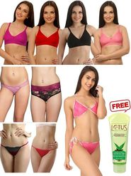 Set of 10 Clovia Blended Bra & Briefs