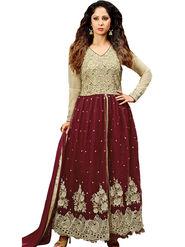 Thankar Semi Stitched  Silky Net Embroidery Dress Material Tas278-14012