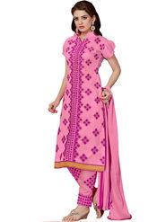 Thankar Semi Stitched  Cotton Embroidery Dress Material Tas280-2312