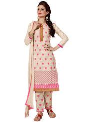 Thankar Semi Stitched  Cotton Embroidery Dress Material Tas280-2315