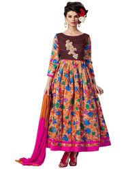 Thankar Embroidered Banglori Silk Semi Stitched  Anarkali Suit Tas289-9705