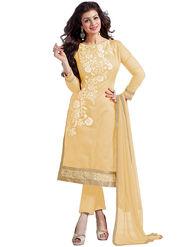 Thankar Semi Stitched  Chanderi Cotton Embroidery Dress Material Tas290-5307D