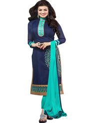 Thankar Semi Stitched  Chanderi Cotton Embroidery Dress Material Tas291-5304