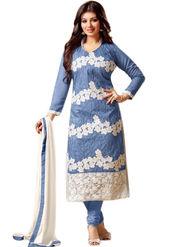 Thankar Embroidered Cotton Semi-Stitched Suit -Tas337-1556