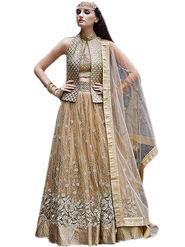 Thankar Thread & Zari Embroidered Net Semi Stitched Anarkali Suit -Tas396-16013