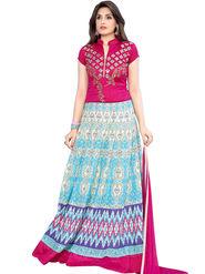 Thankar Printed Cotton Stitched Anarkali Suit -Tas397-2330