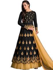 Thankar Zari & Thread Embroidered Banglori Silk Semi Stitched Anarkali Suit -Tas400-1601B