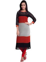 Thankar Plain Georgette Stitched Designer Kurti -Tdk117-Af26