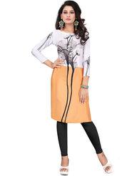 Thankar Printed Pure Silk Crepe Semi Stitched Designer Kurti -Tdk118-11487