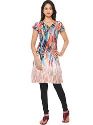 Thankar Printed Cotton Stitched Designer Kurti -Tdk136-At1