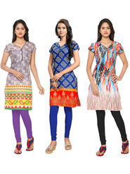 Thankar Printed Cotton Stitched Designer Kurti -Tdk141-At13.At16.At1