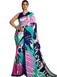 Thankar Printed Crepe Designer Saree -Tds155-13003