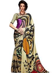 Thankar Printed Crepe Designer Saree -Tds155-13006
