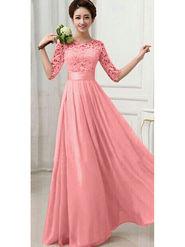Thankar Designer Partywear Gown_Tkr16 - Pink