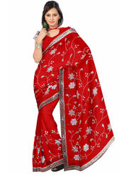 Triveni's  Georgette Embroidered Saree -TS13071