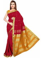 Triveni's Art Silk Zari Worked Saree -TSMRCC3009