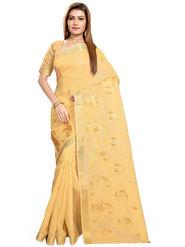 Triveni's Blended Cotton Embroidered Saree -TSMRCCPI4004