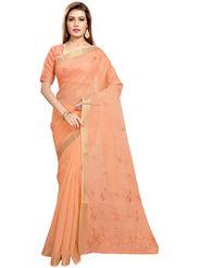 Triveni Blended Cotton Embroidered Saree -Tsmrccpi4005