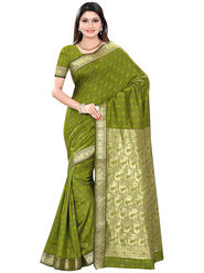 Triveni Art Silk Zari Worked Saree -Tsmrccsr2057