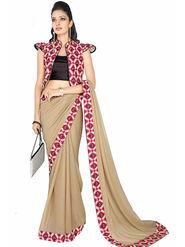 Triveni's  Georgette Shimmer Printed Saree -TSN94003