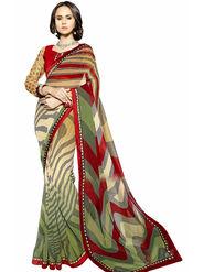 Triveni's  Georgette Printed Saree -TSN95018