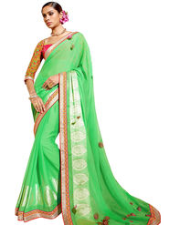 Triveni's  Georgette Border Work Saree -TSN97023