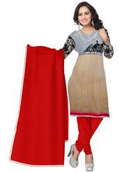 Triveni's Chiffon Net Embroidered Dress Material -TSSK13084