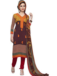 Triveni's Polyester Printed Dress Material -TSSTHRSK2007