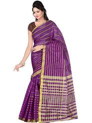 Triveni Dyed Art Silk Violet Saree-Trv09