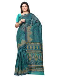 Triveni Sarees Cotton Printed Saree - Sea Green - Tsmrccan1016