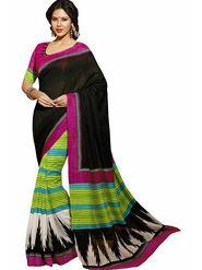 Triveni Bhagalpuri Silk Printed Saree - Multicolor - TSVF12528
