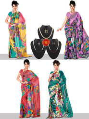Wardrobe Bonanza Set of 4 Sarees By Variation