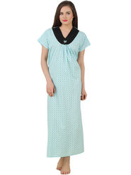Fasense Cotton Printed Nightwear Long Nighty -YT018C1