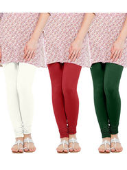 Pack of 3 Oh Fish Solid Cotton Stretchable Leggings -zwe75