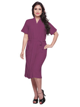 Purple Turkish Cotton Bathrobe_DB-BR-RTM-209