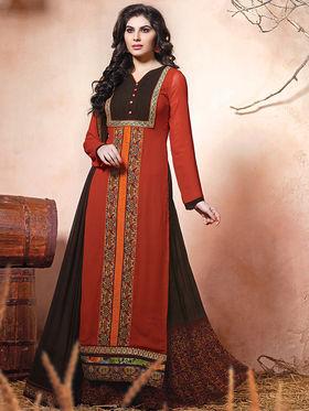 Viva N Diva Embroidered Pure Chanderi Silk Semi Stitched Suit10020-Elnaaz