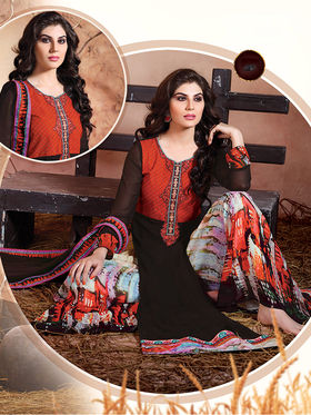Viva N Diva  Embroidered Pure Chanderi Silk Semi Stitched Suit 10024-Elnaaz