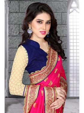 Viva N Diva Georgette Embroidered Saree 10059-Sanaa