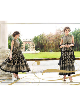 Viva N Diva Embroidered Georgette Semi Stitched Suit 10151-Lavish
