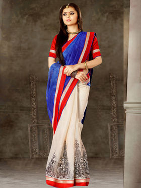 Viva N Diva Printed Bhagalpuri Silk Saree -sa12