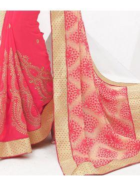 Viva N Diva Embroidered Brasso Saree -sy15