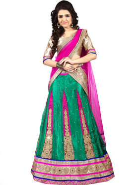 Viva N Diva Embroidered Semi Stitched Net Lehenga -10524-Ami