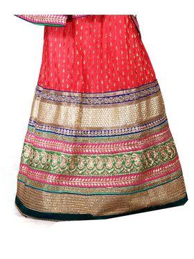 Viva N Diva Embroidered Semi Stitched Net Lehenga -10535-Ami