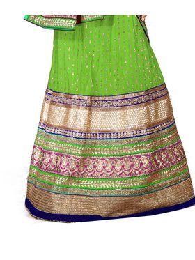 Viva N Diva Embroidered Semi Stitched Net Lehenga -10537-Ami