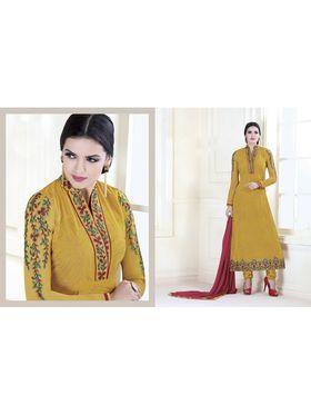 Viva N Diva Embroidered Faux Georgette Semi Stitched Salwar Suit -11108-Kalika