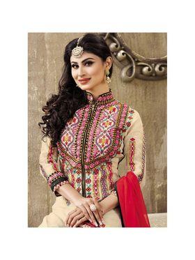 Viva N Diva Emroidered Unstiched  Dress Material_11291-Shruti