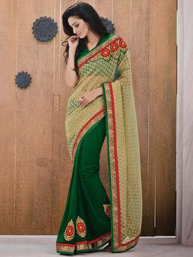 Bahubali Jacquard Embroidered Saree - Gold_GA.50128