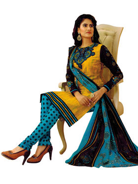 Pack of 2 Priya Fashions Cotton Printed Dress Material - PFS2CH