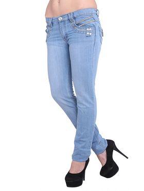 Lavennder Denim Solid Jeans - Ice Blue_2009