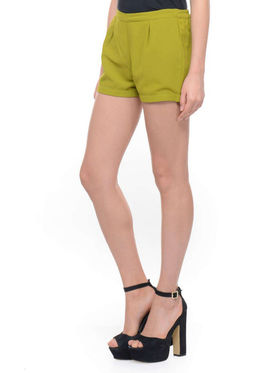 Lavennder Ladies Georgette Short With Lining - Mehendi Green_LW-5142